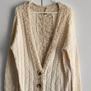 Free People sandy button down sweater size L